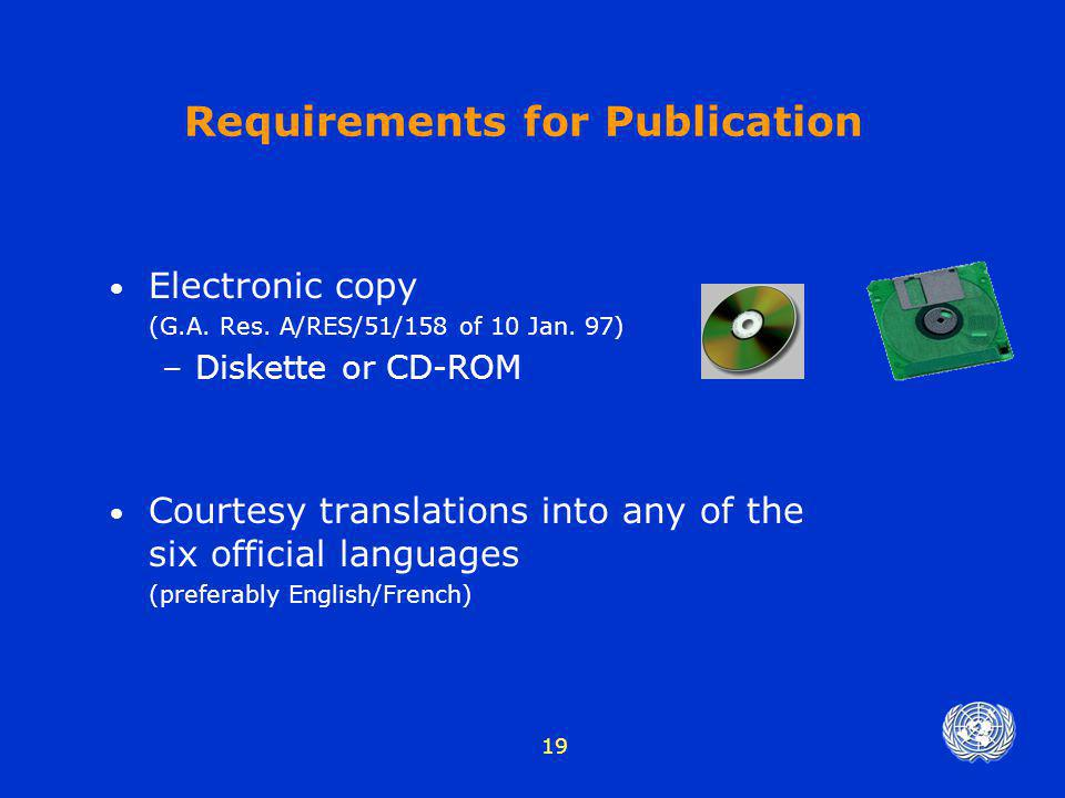 Requirements for Publication