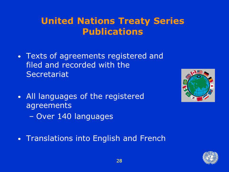 United Nations Treaty Series Publications