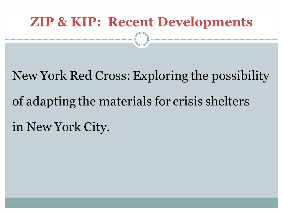 ZIP & KIP: Recent Developments
