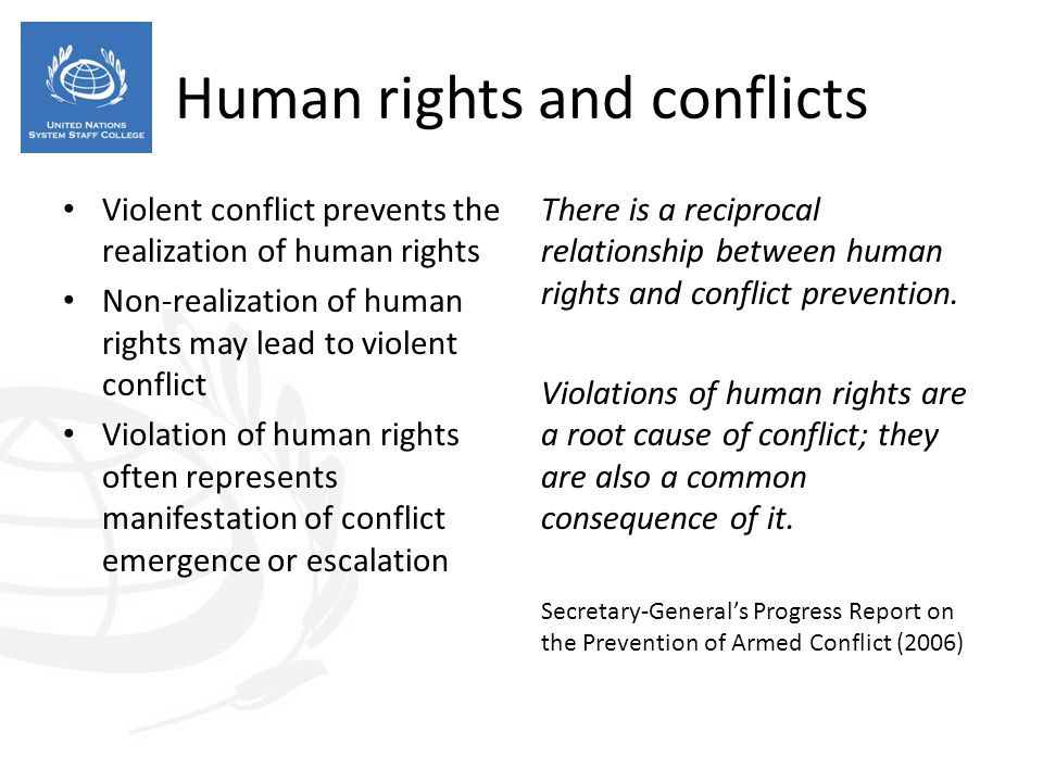 Human rights and conflicts