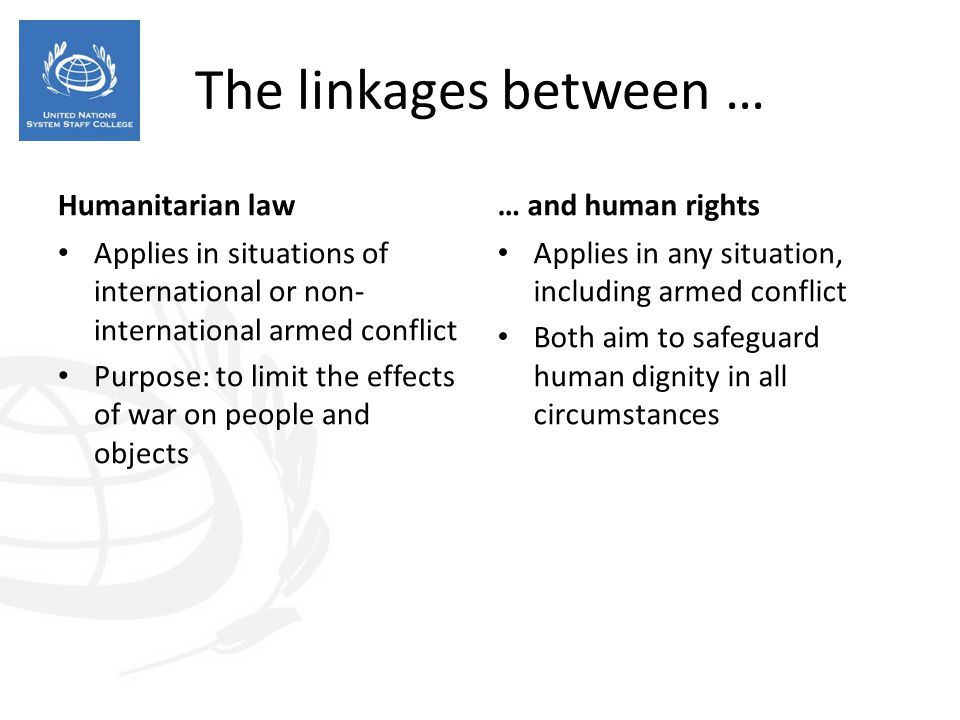The linkages between … Humanitarian law … and human rights