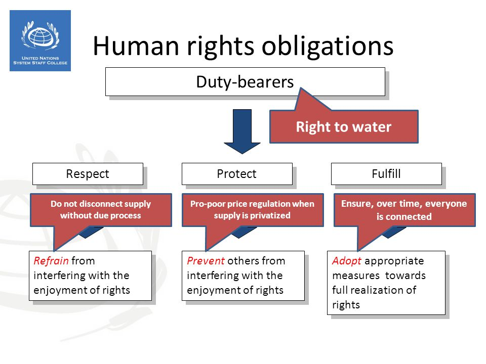 Human rights obligations