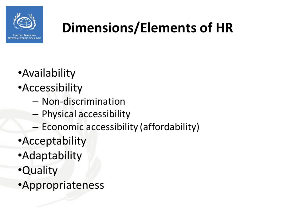 Dimensions/Elements of HR