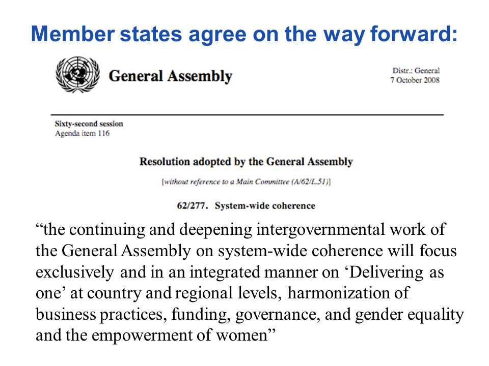 Member states agree on the way forward: