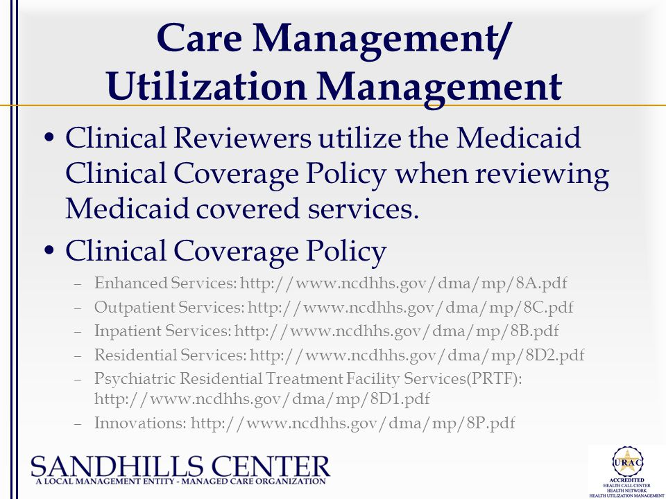 Care Management/ Utilization Management