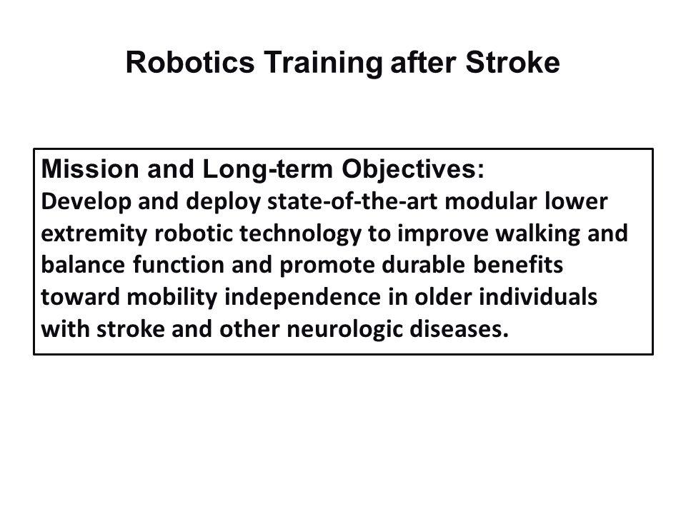 Robotics Training after Stroke