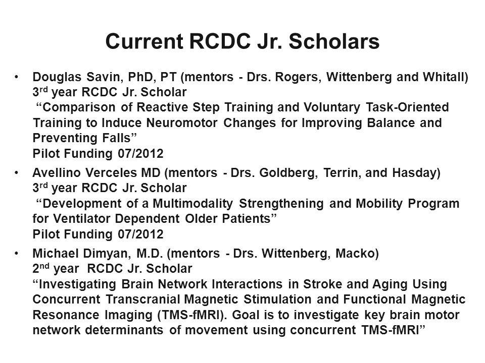 Current RCDC Jr. Scholars