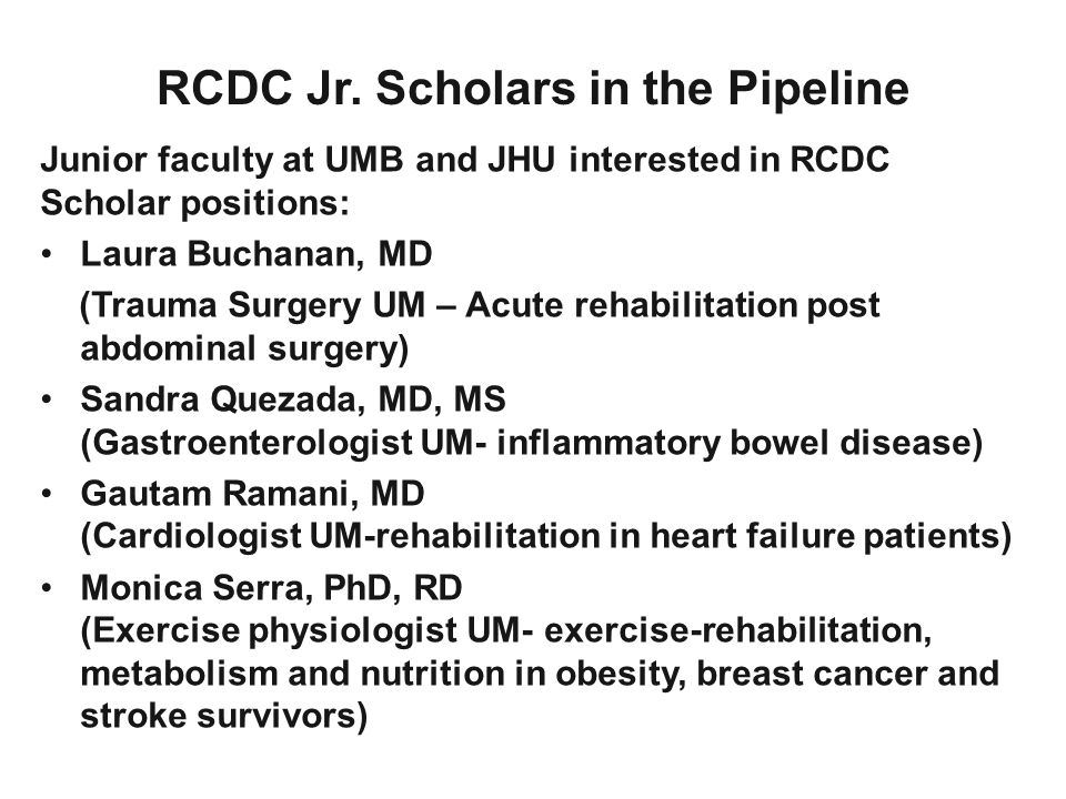 RCDC Jr. Scholars in the Pipeline