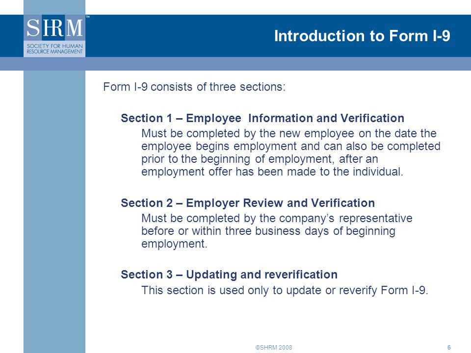 Introduction to Form I-9
