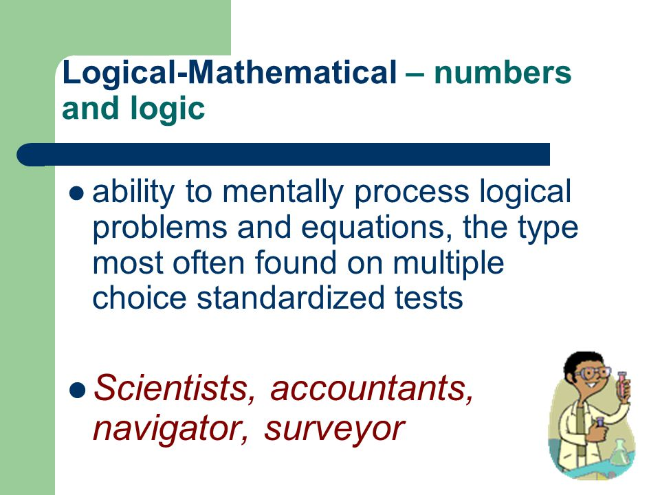 Logical-Mathematical – numbers and logic