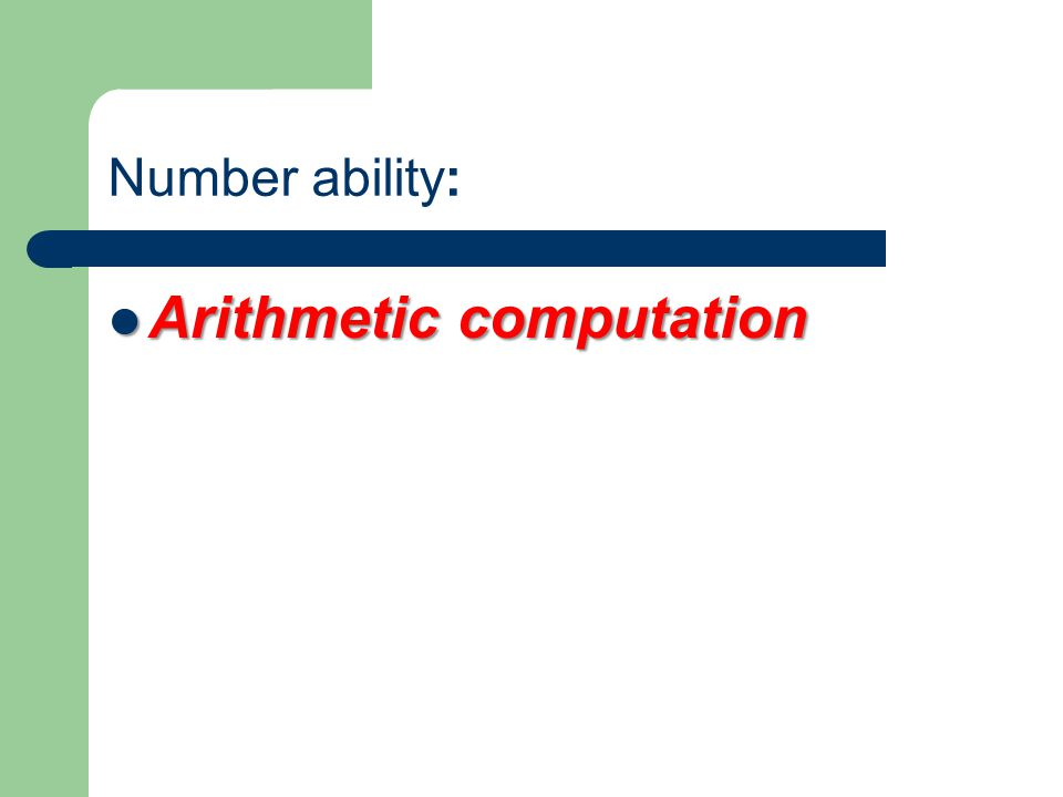 Arithmetic computation