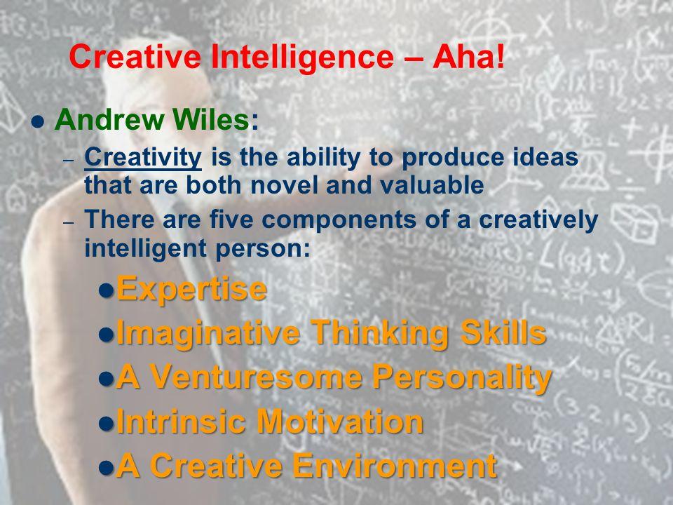 Creative Intelligence – Aha!