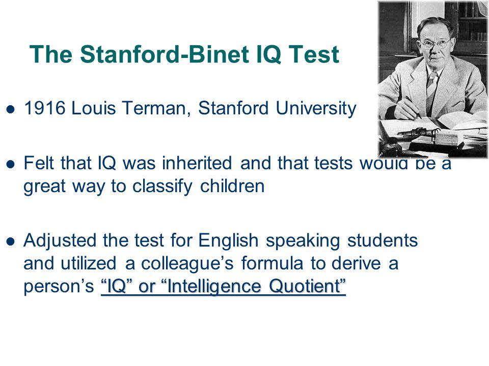 The Stanford-Binet IQ Test