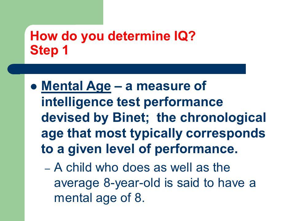 How do you determine IQ Step 1