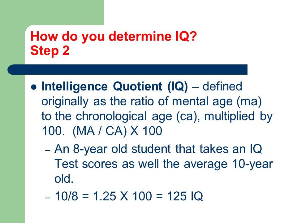 How do you determine IQ Step 2