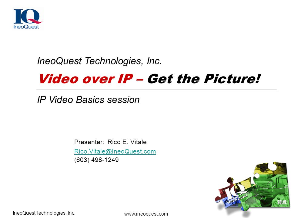 Video over IP – Get the Picture!