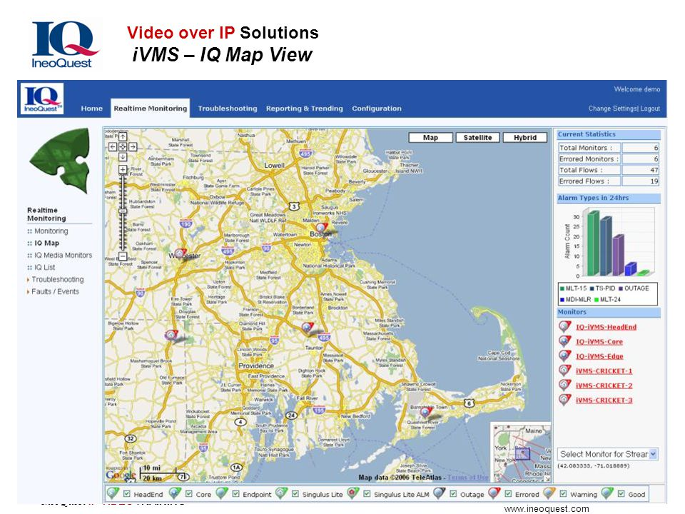 Video over IP Solutions iVMS – IQ Map View