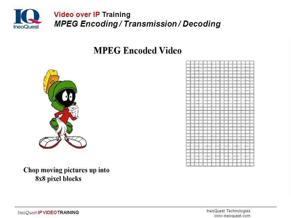 Video over IP Training MPEG Encoding / Transmission / Decoding