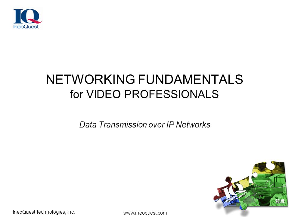 NETWORKING FUNDAMENTALS for VIDEO PROFESSIONALS