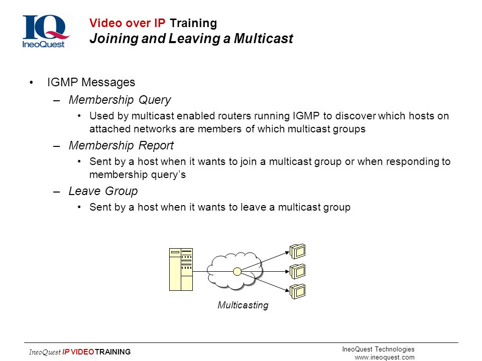 Video over IP Training Joining and Leaving a Multicast