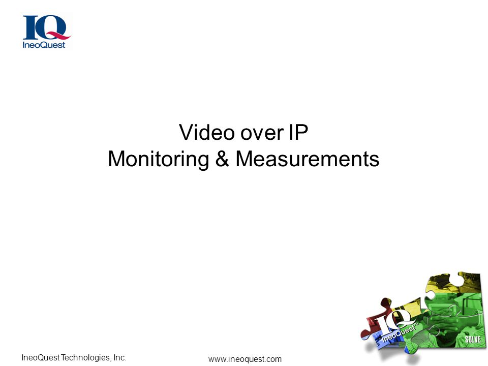 Video over IP Monitoring & Measurements