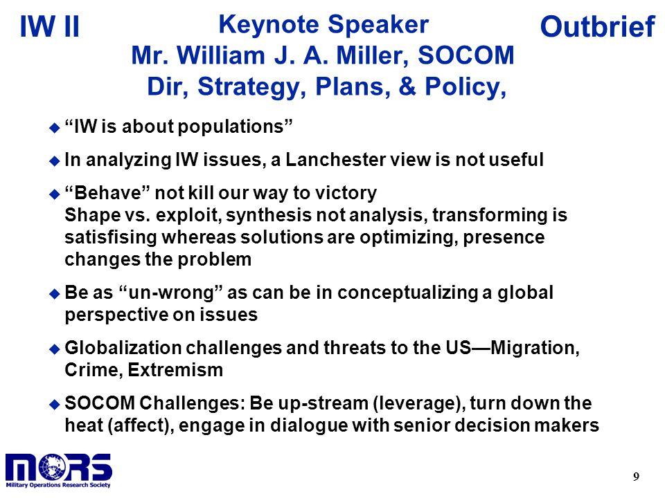 Keynote Speaker Mr. William J. A