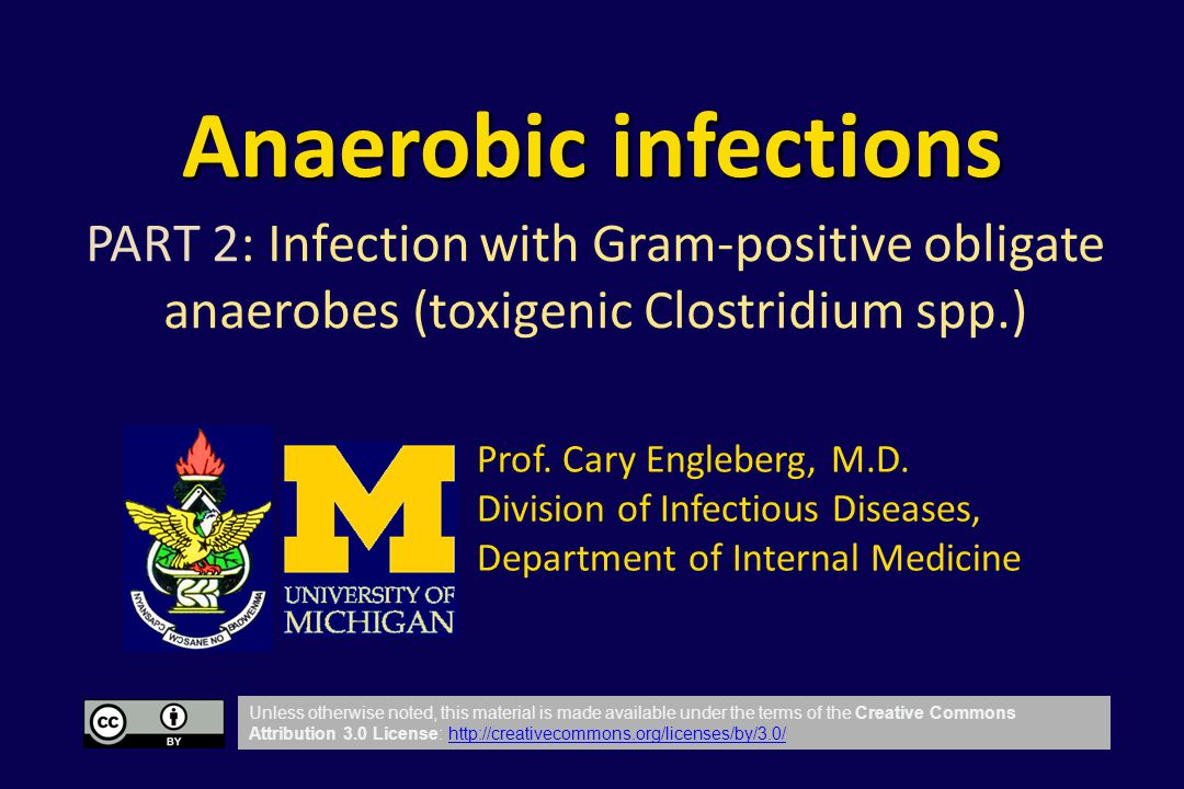 Anaerobic infections PART 2: Infection with Gram-positive obligate anaerobes (toxigenic Clostridium spp.)