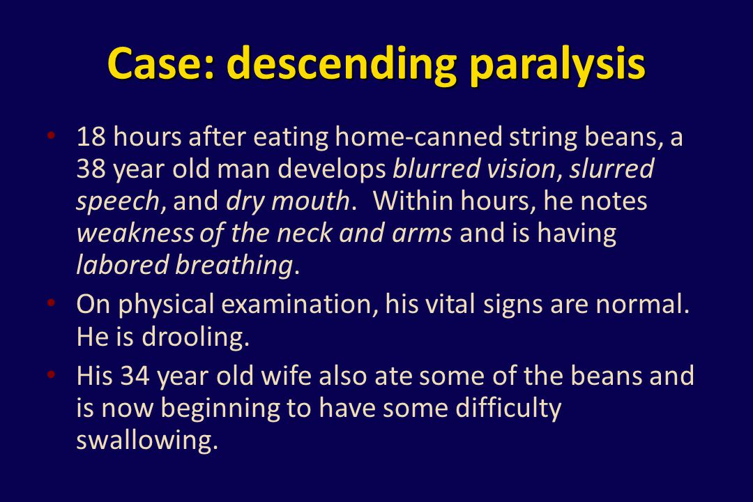 Case: descending paralysis