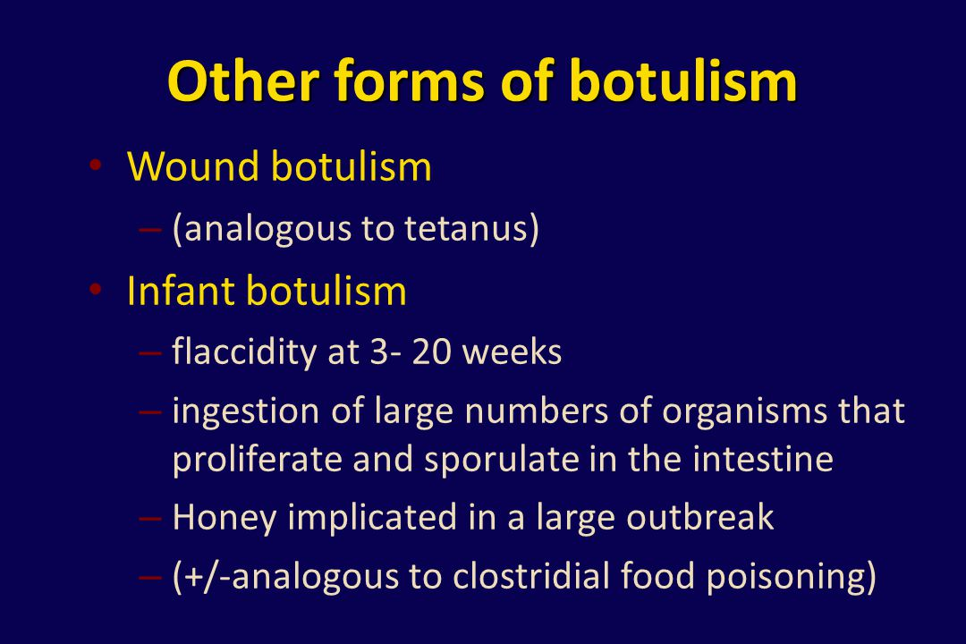 Other forms of botulism