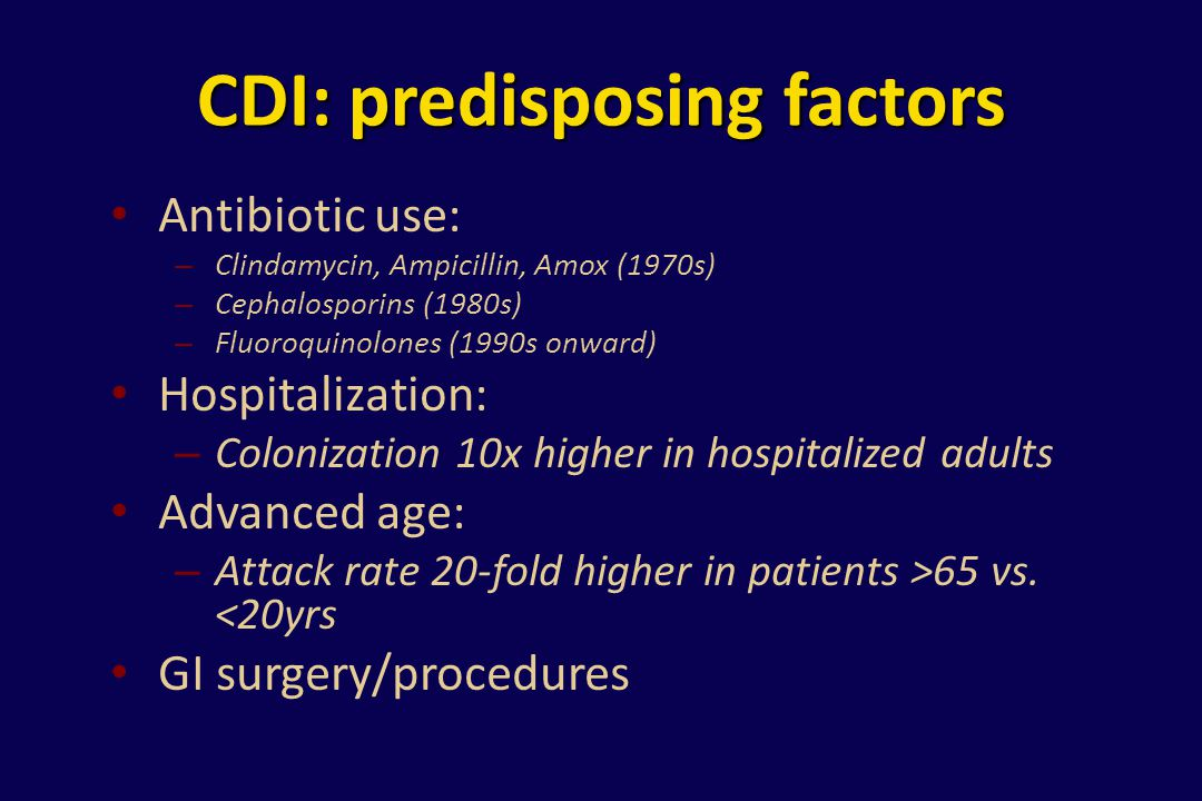 CDI: predisposing factors