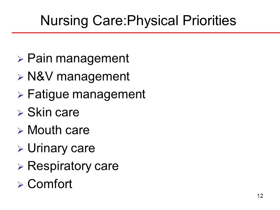Nursing Care:Physical Priorities
