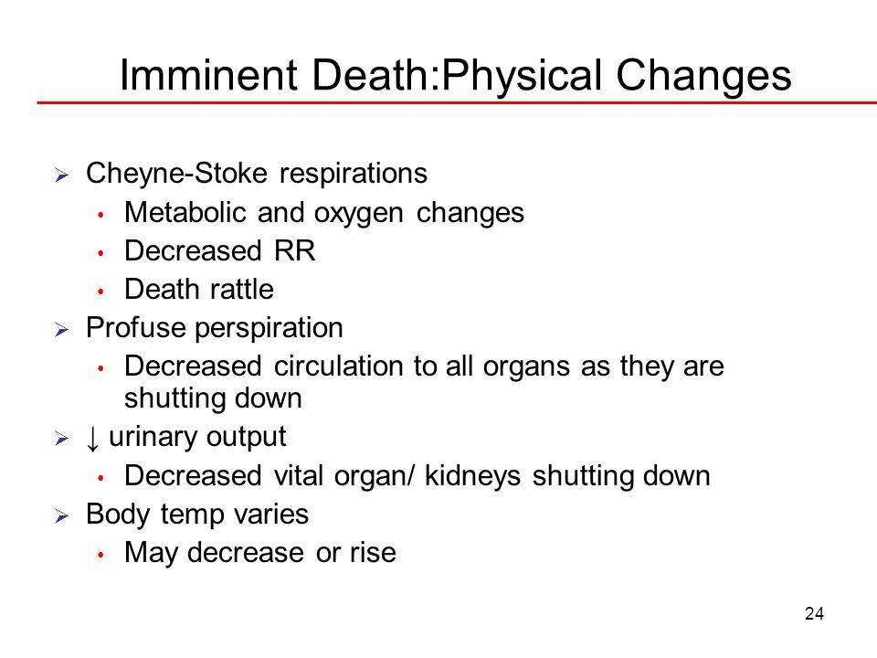 Imminent Death:Physical Changes
