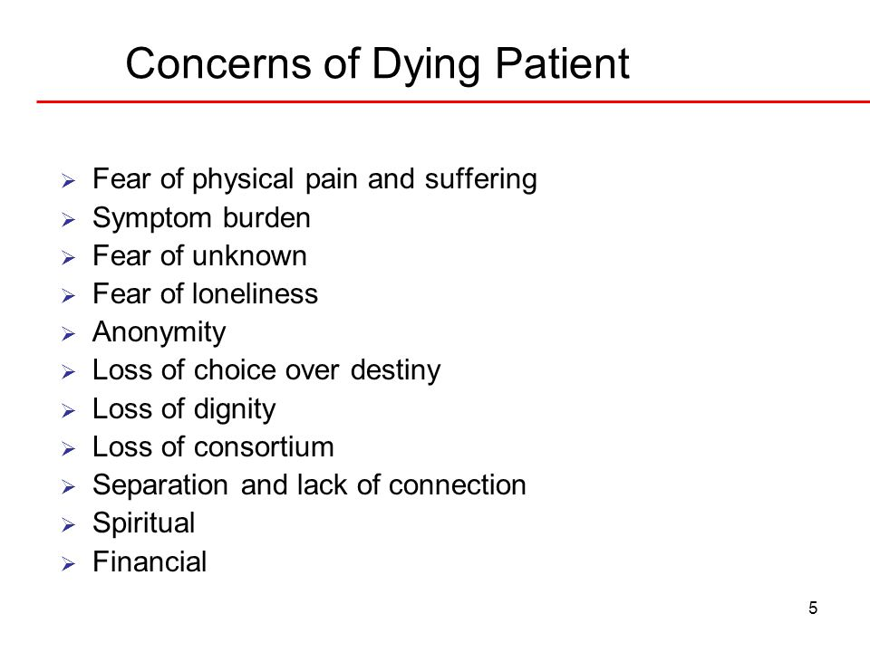 Concerns of Dying Patient