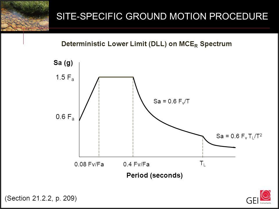 SITE-SPECIFIC GROUND MOTION PROCEDURE