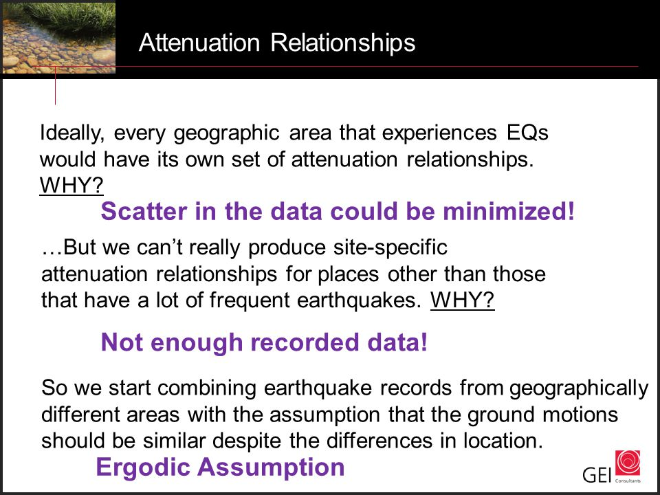 Attenuation Relationships