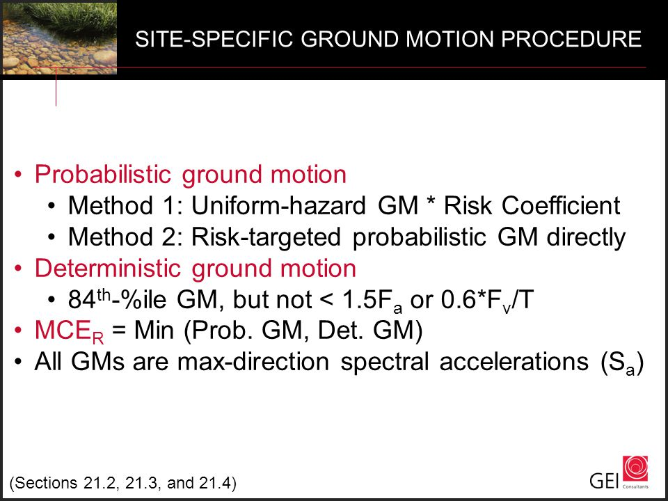 Probabilistic ground motion