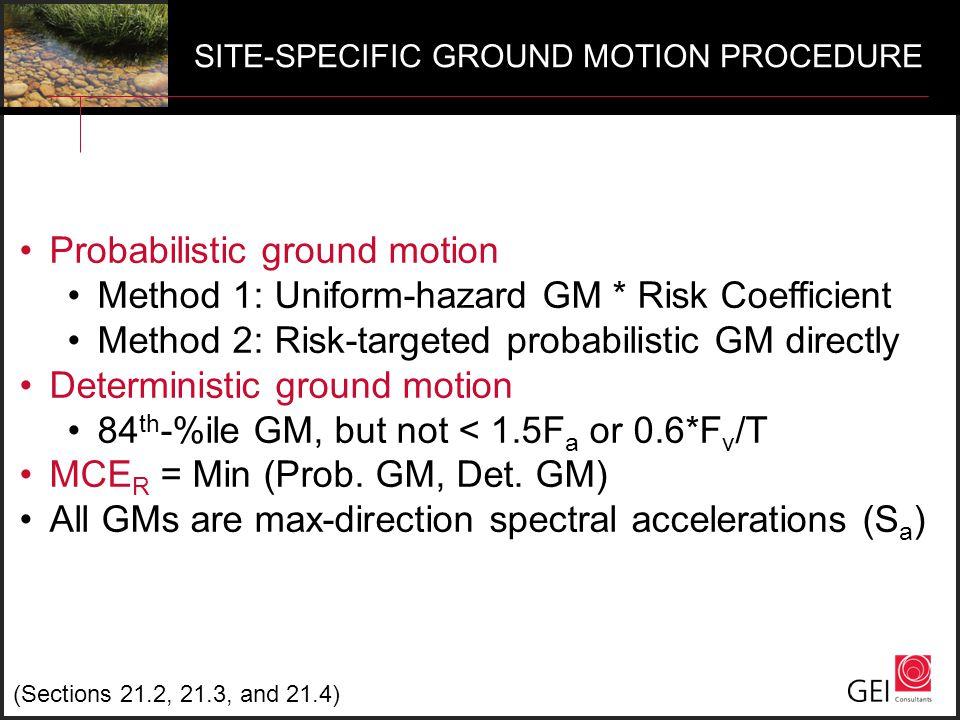 Probabilistic ground motion