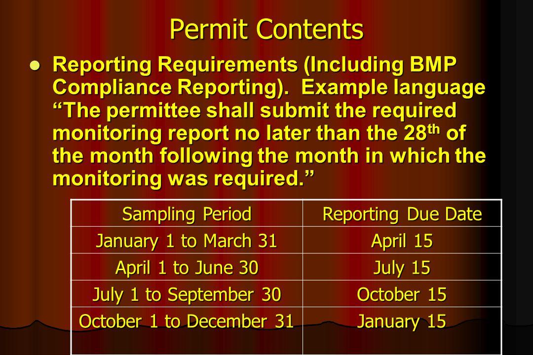 Permit Contents