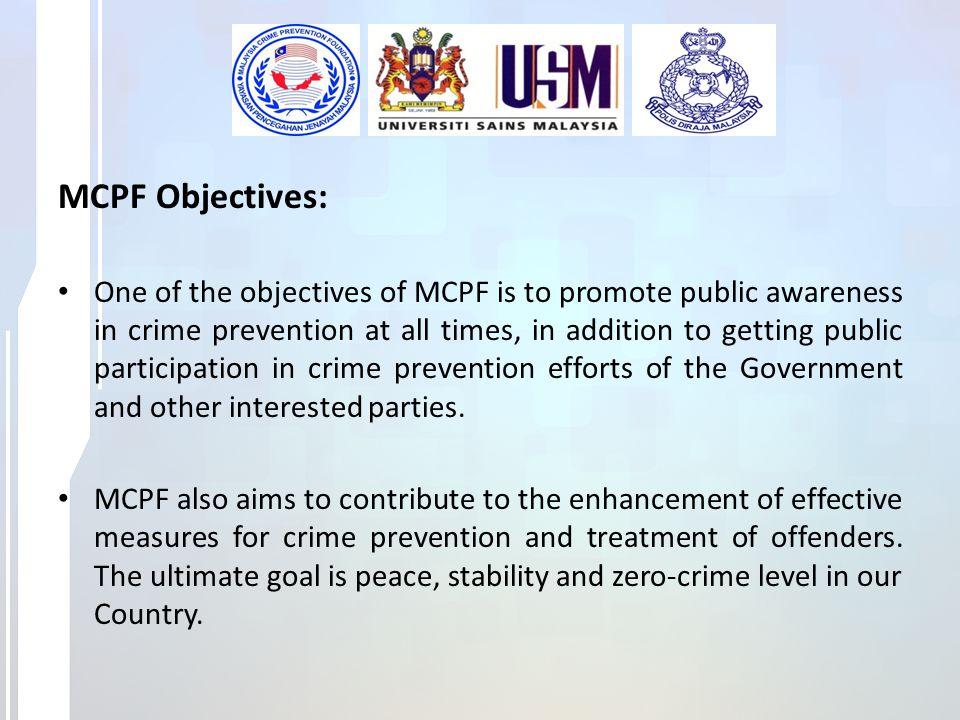 MCPF Objectives: