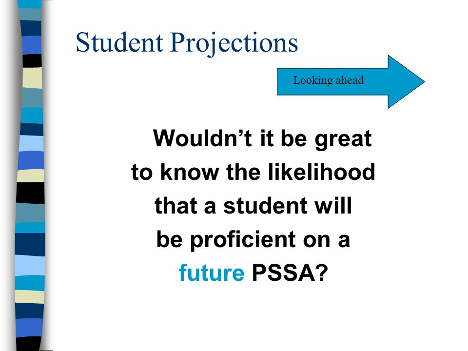 Student Projections to know the likelihood that a student will