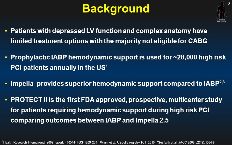 Background Patients with depressed LV function and complex anatomy have limited treatment options with the majority not eligible for CABG.