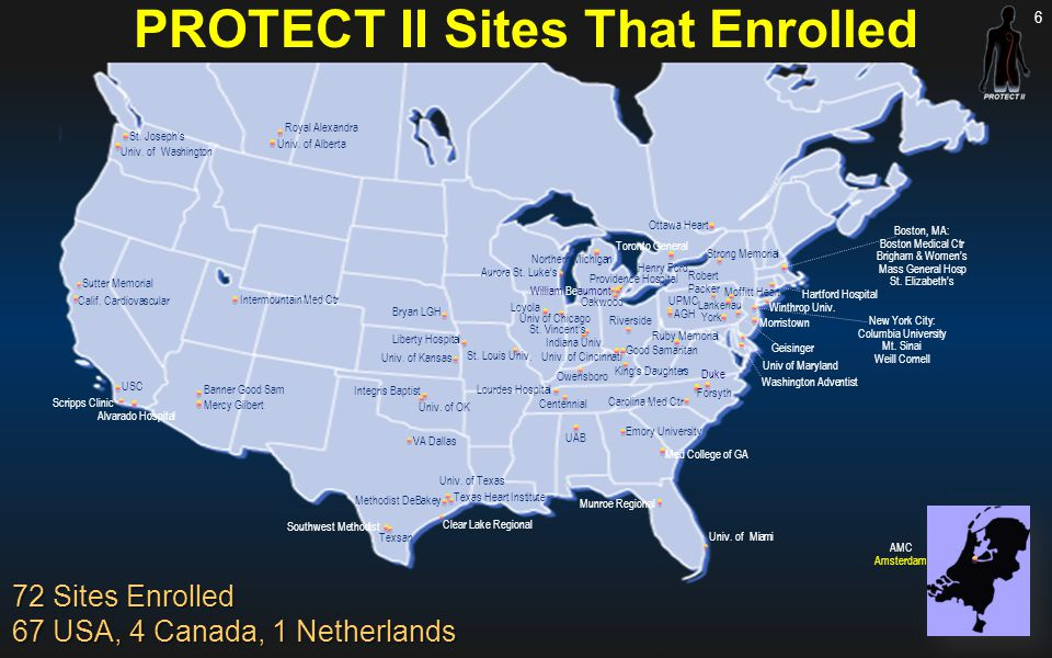PROTECT II Sites That Enrolled