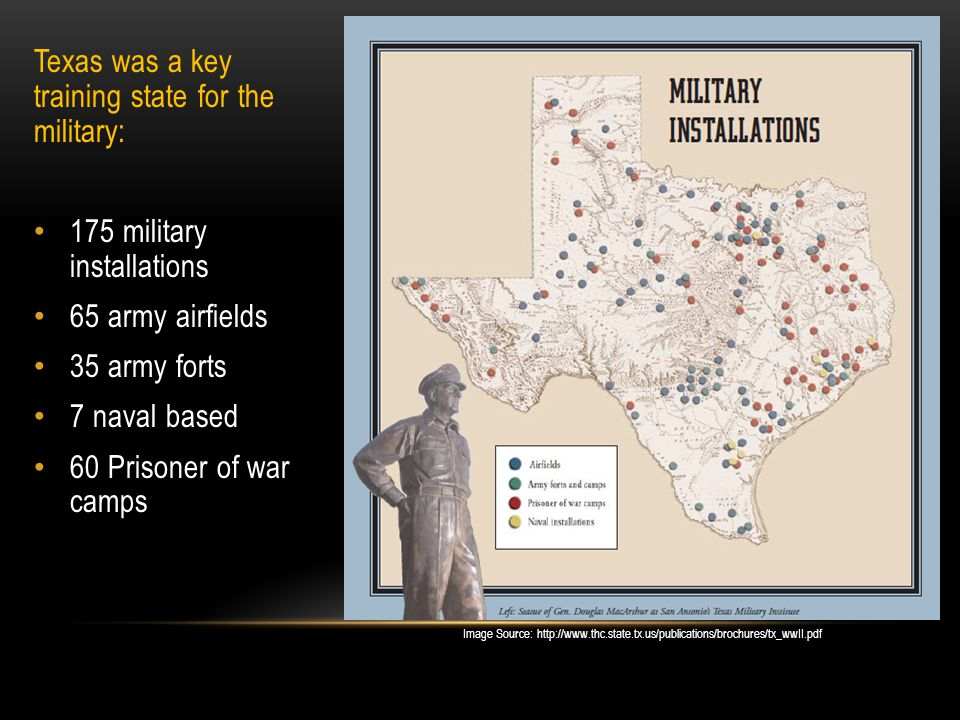 Texas was a key training state for the military: