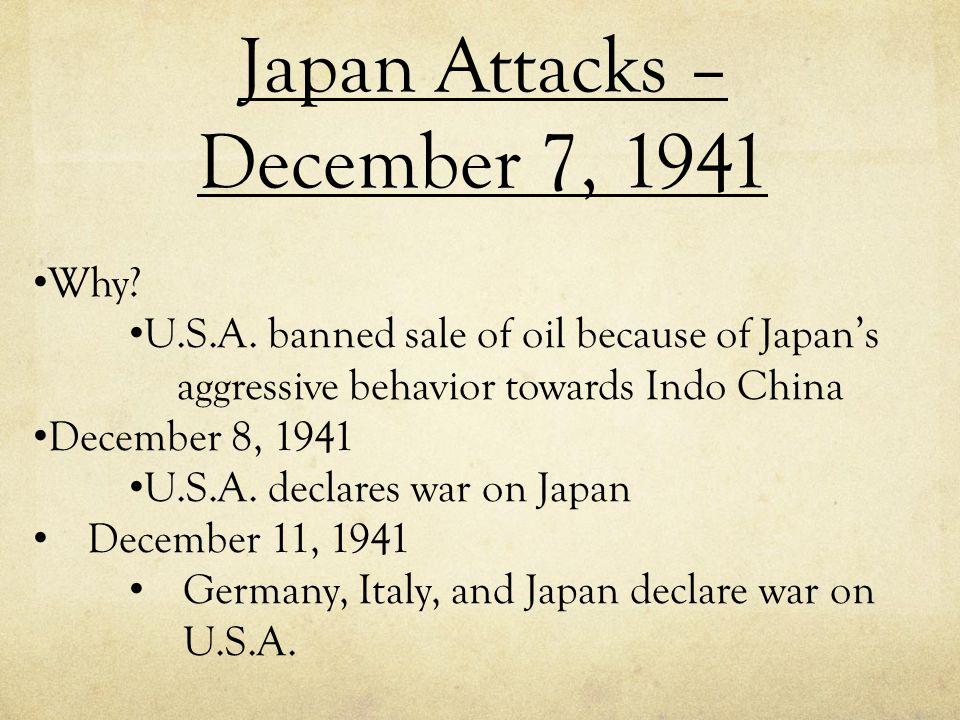 Japan Attacks – December 7, 1941