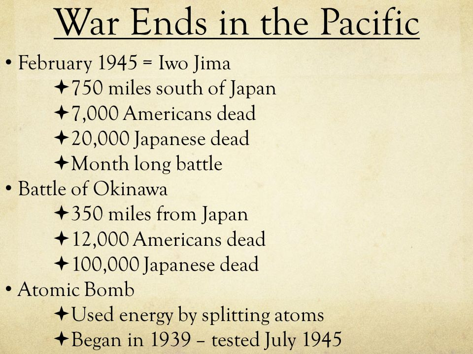 War Ends in the Pacific February 1945 = Iwo Jima