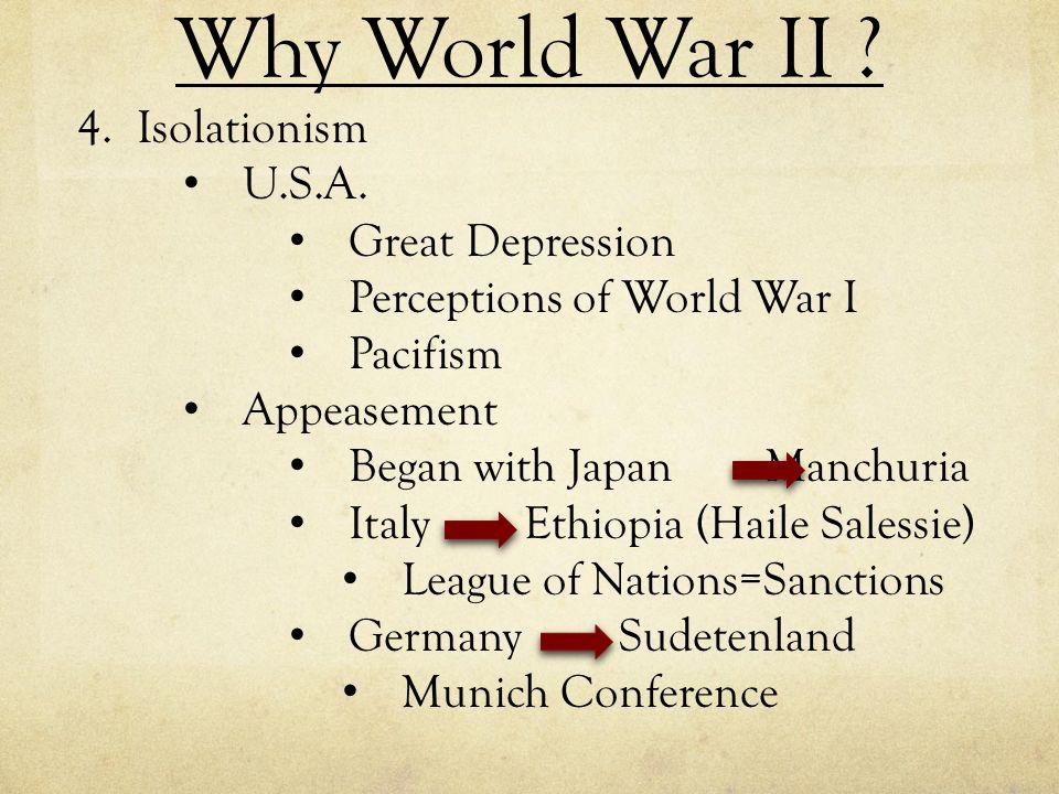 Why World War II Isolationism U.S.A. Great Depression