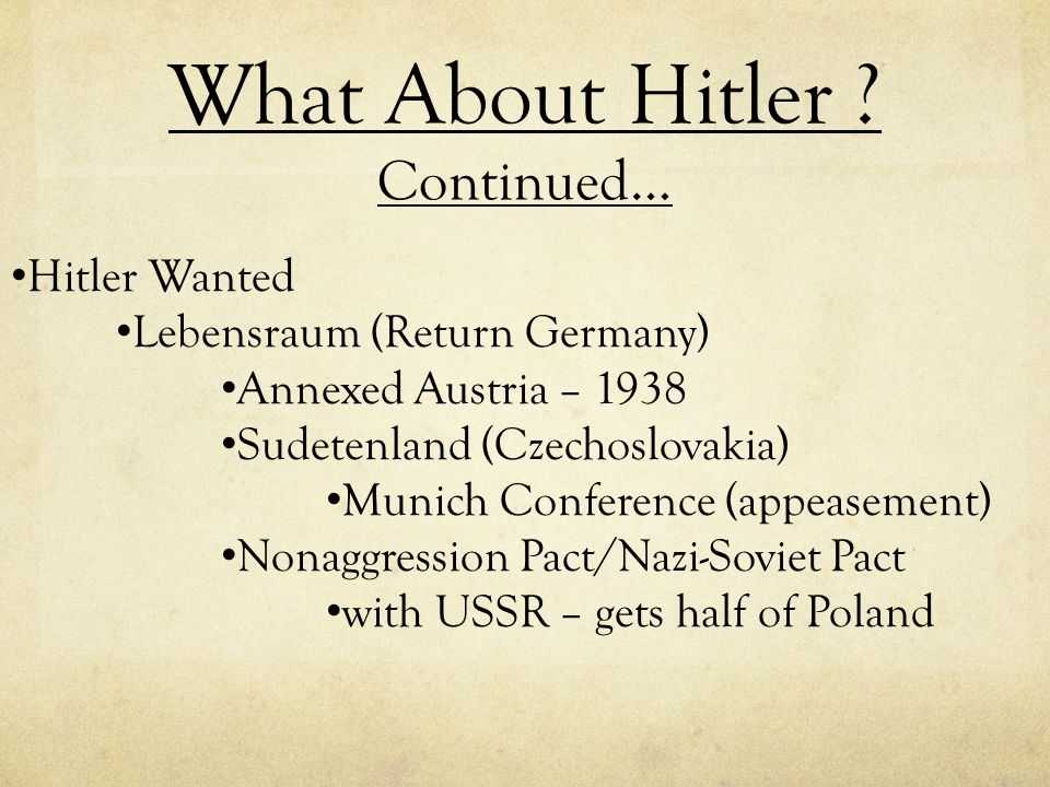 What About Hitler Continued…