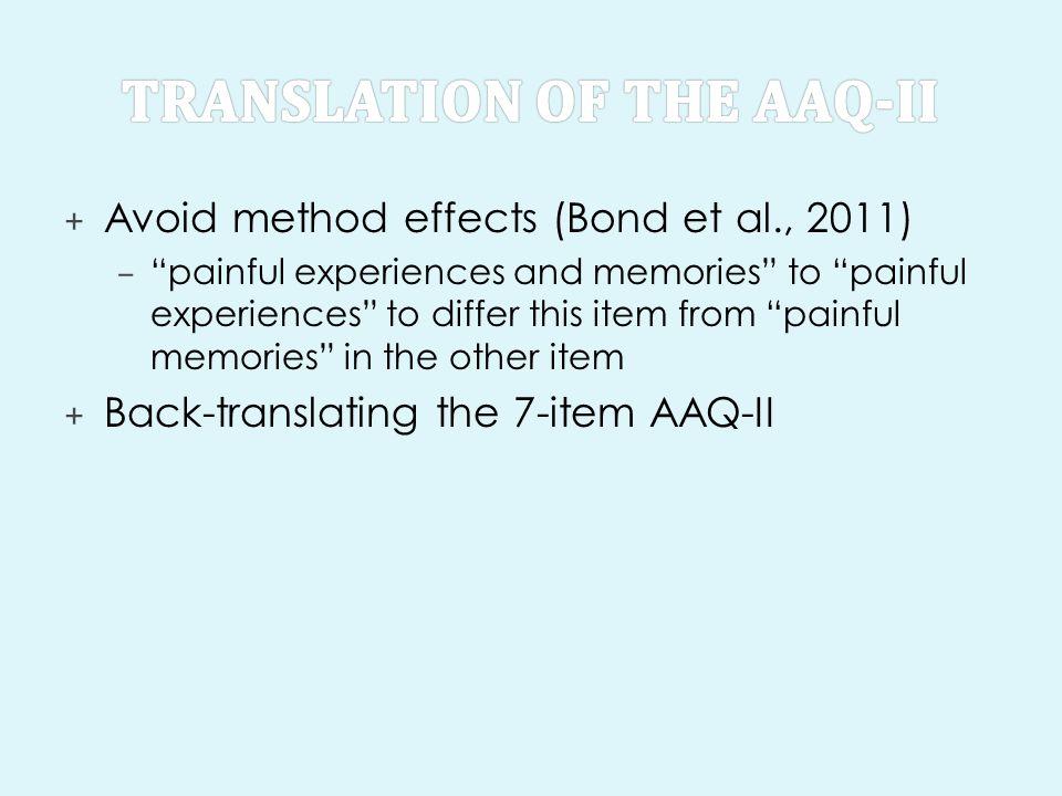 Translation of the AAQ-II