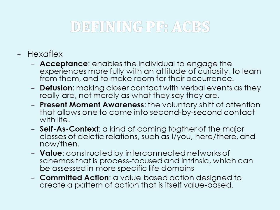 Defining PF: ACBS Hexaflex