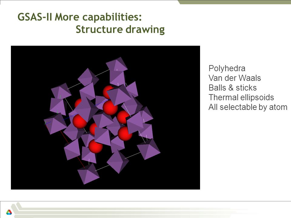 GSAS-II More capabilities: Structure drawing